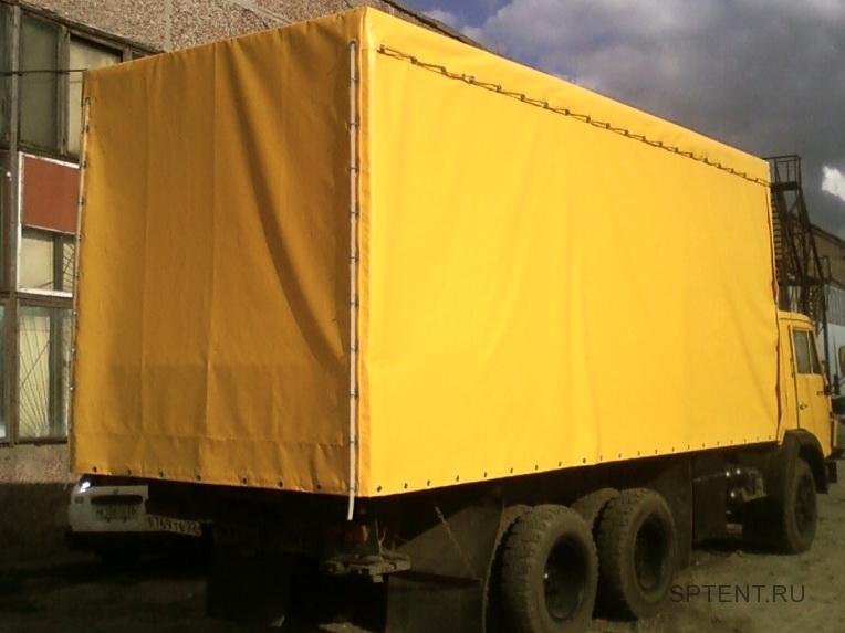 Тент-ПВХ  желтого цвета на грузовик Камаз