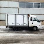 Боковые распашные ворота на будку грузовика-хлебовозки Kia Bongo 3