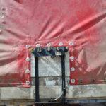Замена люверсов и установка заплаты на тент полуприцепа