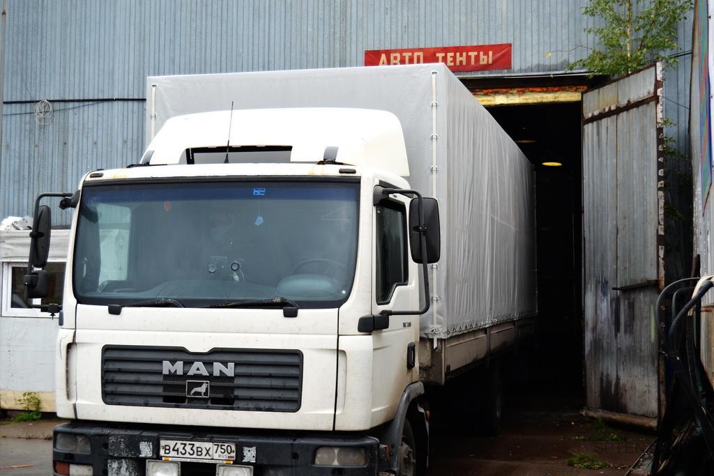Тент на грузовик MAN TGL 7.150 в Санкт-Петербурге