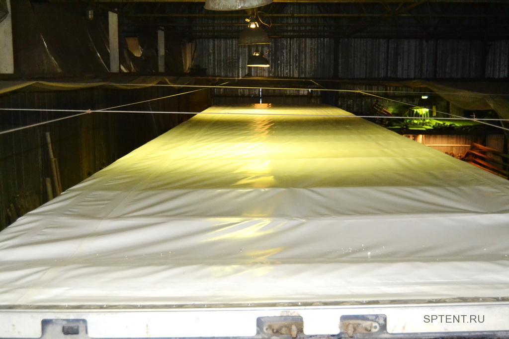 Изготовление и замена тентовой крыши полуприцепа Krone