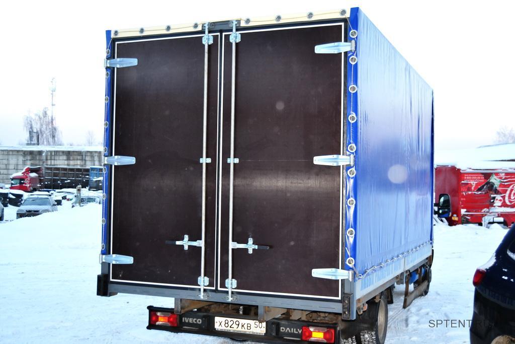 Установка задних распашных ворот на грузовик Iveco Daily в Санкт-Петербурге