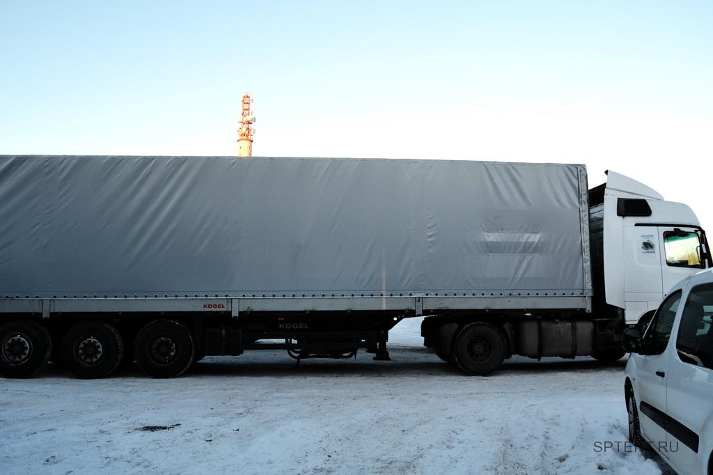 Изготовление тента чулка на полуприцеп Koegel в Санкт-Петербурге