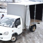 Сдвижная штора на «Газель-Бизнес», тент штора на грузовой автомобиль