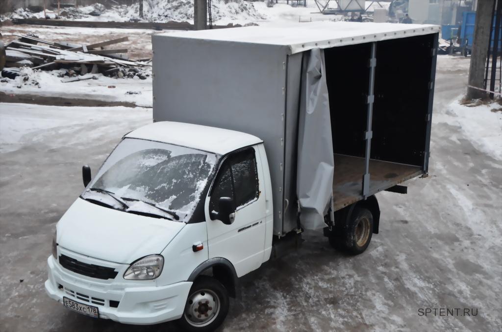 Сдвижная штора тента грузовика «Газель-Бизнес»