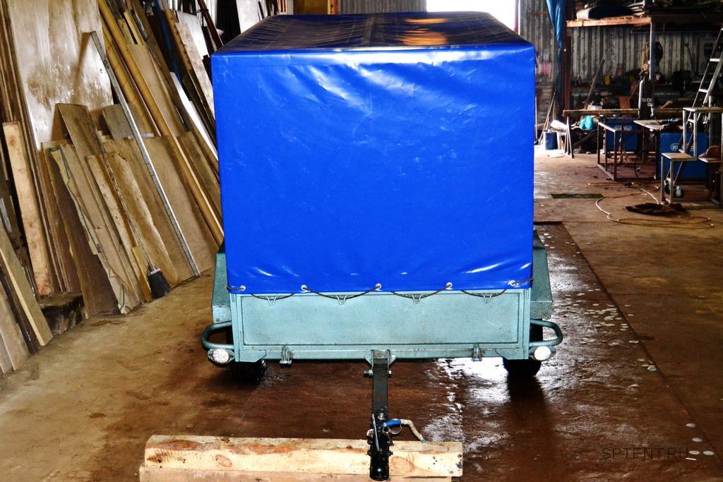 Изготовление каркаса и тента на автоприцеп МЗСА в Санкт-Петербурге