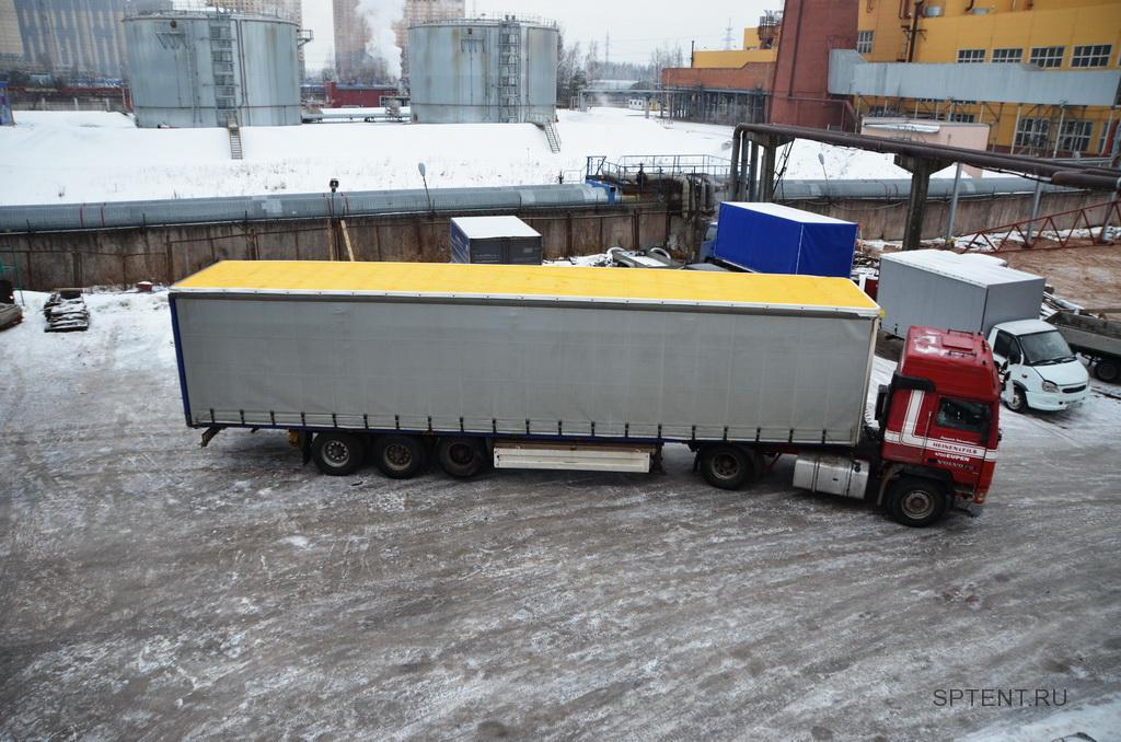 Изготовление и установка сдвижной крыши на полуприцеп Schmitz SP 24 в Спб