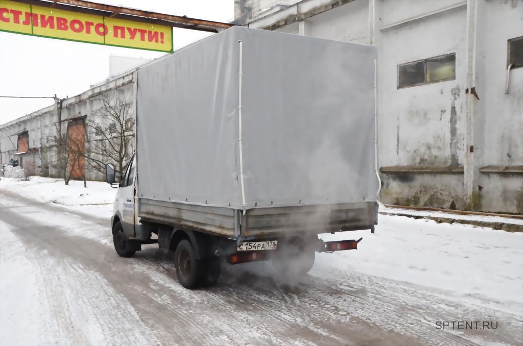 Прямоугольный тент на ГАЗ-3302