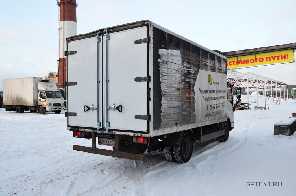 Изотермические ворота на будку грузовика Isuzu