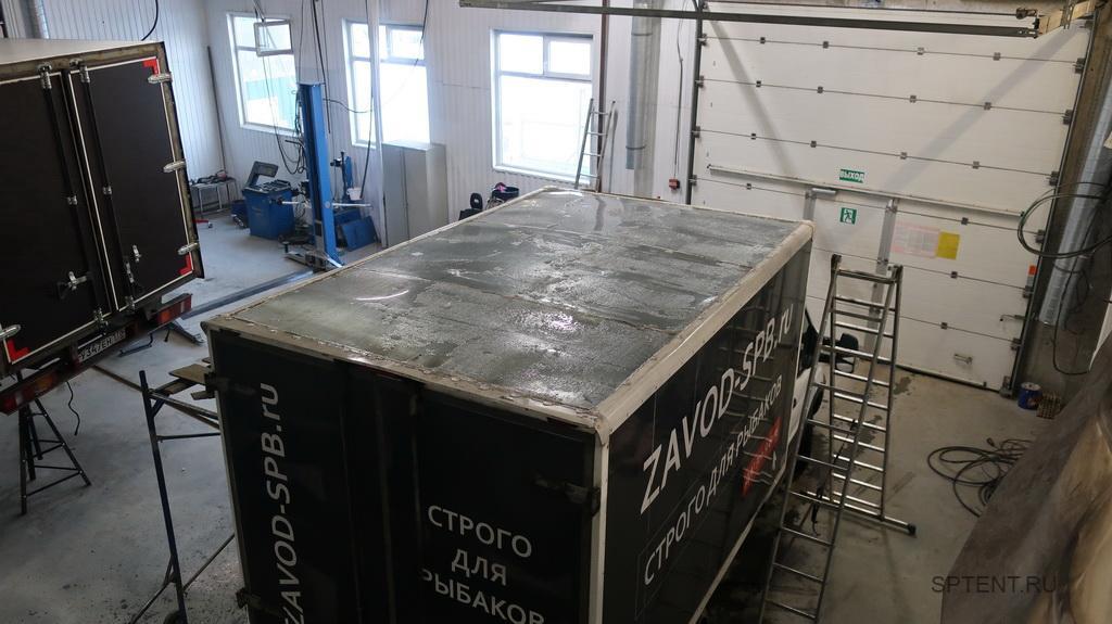 Изготовление тента на крышу фургона Ford Transit